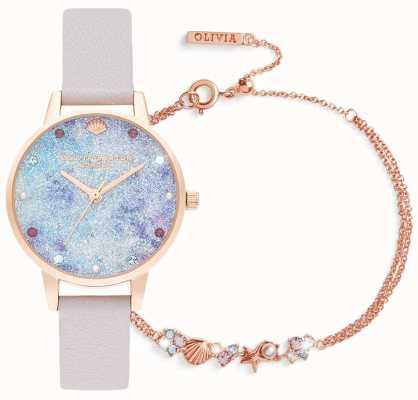 Olivia Burton | sous la mer | coffret cadeau montre et bracelet | lilas | OBGSET142
