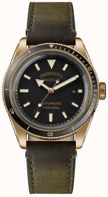 Ingersoll Le scovill | remontoir de montre | bracelet vert olive cadran noir I05007