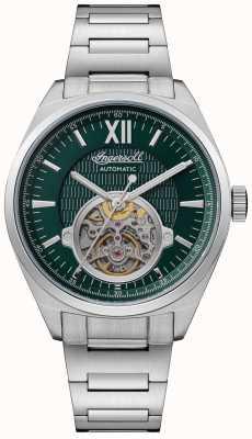 Ingersoll Le bracelet automatique en acier inoxydable à cadran vert Shelby I10903