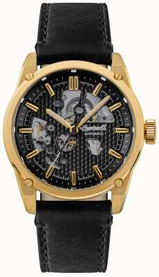 Ingersoll Le carroll automatique cadran squelette noir bracelet en cuir noir I11601
