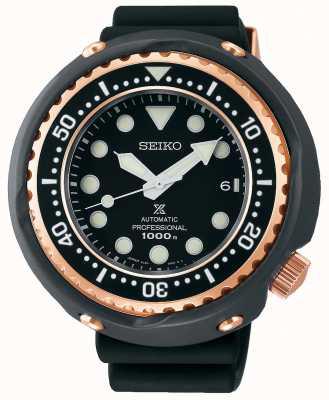 Seiko Prospex pour hommes   bracelet en silicone noir   cadran noir   SLA042J1