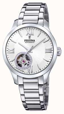 Festina Automatique pour femmes | bracelet en acier inoxydable | cadran argenté F20488/1