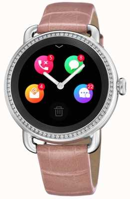 Festina Smartime | bracelet en cuir rose | écran couleur | sangle supplémentaire à imprimé serpent F50000/2