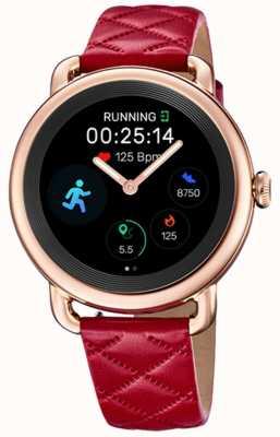 Festina Smartime | bracelet en cuir rouge pour femme | écran couleur | bracelet noir supplémentaire F50001/3
