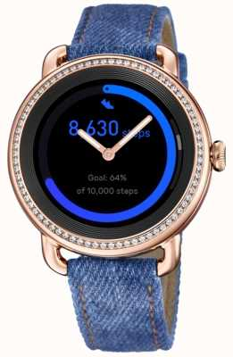 Festina Smartime | bracelet en denim femme | écran couleur | ensemble de cristal | sangle supplémentaire F50002/1