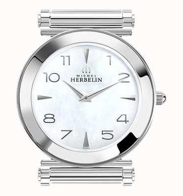 Michel Herbelin Antarès | cadran de montre en acier inoxydable uniquement | nacre H.17443/19