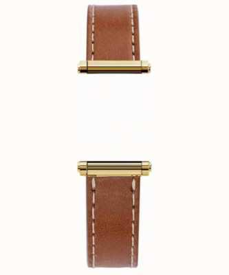 Michel Herbelin Antarès | or harrison | bracelet interchangeable en cuir marron uniquement (or) BRAC.17048.02/P