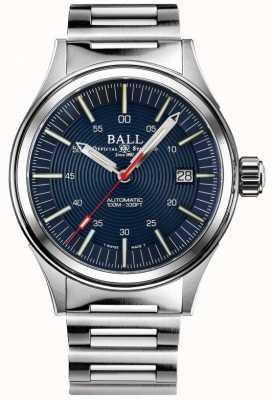 Ball Watch Company Brise-nuit pompier | bracelet en acier inoxydable | cadran bleu | 40 mm NM2188C-S13-BE