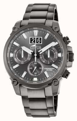 Lotus Bracelet homme en acier inoxydable gris | cadran de chronographe gris L10140/1