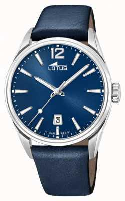 Lotus Bracelet en cuir bleu pour homme | cadran bleu L18693/1