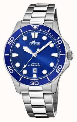Lotus Bracelet homme en acier inoxydable | cadran bleu L18762/1
