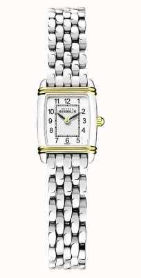 Michel Herbelin Art déco | bracelet en acier inoxydable pour femme | cadran blanc 17438/T22B