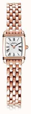 Michel Herbelin Art déco | bracelet femme en acier plaqué or rose | cadran blanc | chiffre romain | 17438/PR08B