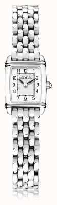 Michel Herbelin Art déco | bracelet en acier inoxydable pour femme | cadran blanc | 17438/22B