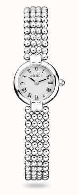 Michel Herbelin Perles | bracelet en acier inoxydable pour femme | cadran blanc 17433/B08