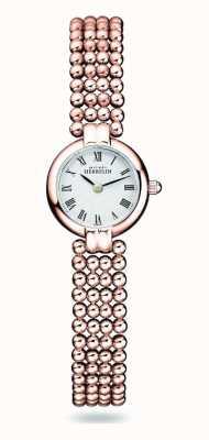 Michel Herbelin Perles | bracelet femme en acier plaqué or rose | cadran blanc 17433/BPR08