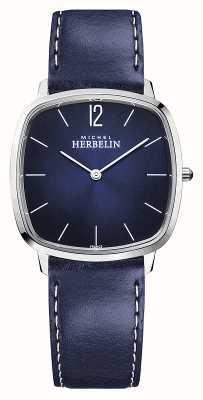 Michel Herbelin Ville | bracelet en cuir bleu pour homme | cadran bleu 16905/15BL