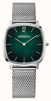 Michel Herbelin Ville | bracelet en maille d'acier pour homme | cadran vert 16905/16B