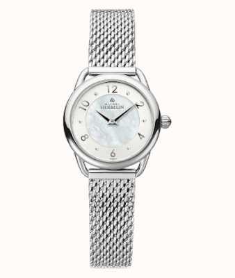 Michel Herbelin Équinoxe | bracelet en maille d'acier pour femme | cadran en nacre 17497/29B
