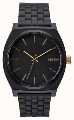 Nixon Time Teller | noir mat / or | bracelet en acier ip noir | cadran noir A045-1041-00