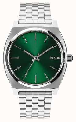 Nixon Time Teller | rayon de soleil vert | bracelet en acier inoxydable | cadran vert A045-1696-00