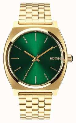 Nixon Time Teller | or / rayon de soleil vert | bracelet en acier ip or | cadran vert A045-1919-00