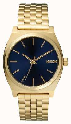 Nixon Time Teller | tout or clair / cobalt | bracelet ip or | cadran bleu A045-1931-00