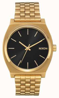 Nixon Time Teller | tout or / rayon de soleil noir | bracelet ip or | cadran noir A045-2042-00