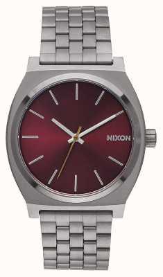 Nixon Time Teller | gunmetal / bordeaux profond | bracelet ip en bronze à canon | cadran bordeaux A045-2073-00