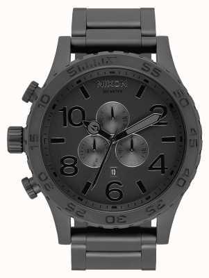 Nixon 51-30 chrono | tout noir mat / noir | bracelet ip noir | cadran noir A083-3086-00