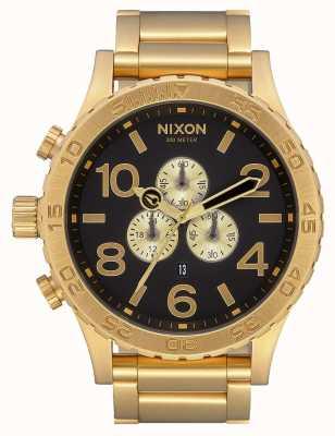 Nixon 51-30 chrono | tout or / noir | bracelet ip or | cadran noir A083-510-00