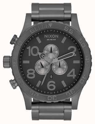 Nixon 51-30 chrono | tout gunmetal | bracelet en acier gunmetal | cadran bronze A083-632-00