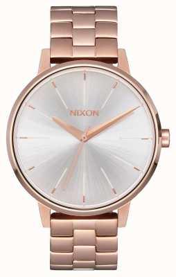 Nixon Kensington | or rose / blanc | bracelet ip or ross | cadran argenté A099-1045-00