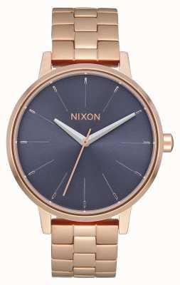 Nixon Kensington | or rose / tempête | bracelet ip or rose | cadran bleu A099-3005-00