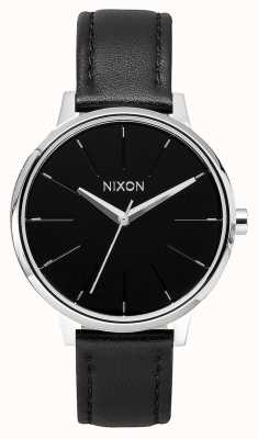 Nixon Cuir Kensington | noir | bracelet en cuir noir | cadran noir A108-000-00