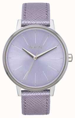 Nixon Cuir Kensington | lavande | bracelet en cuir lavande | cadran lavande A108-236-00
