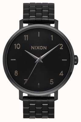 Nixon Flèche | tout noir | bracelet en acier ip noir | cadran noir A1090-001-00