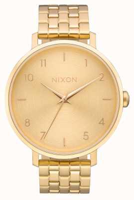 Nixon Flèche   tout l'or   bracelet en acier ip or   cadran en or A1090-502-00