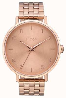 Nixon Flèche   tout en or rose   bracelet en acier ip or rose   cadran en or rose A1090-897-00