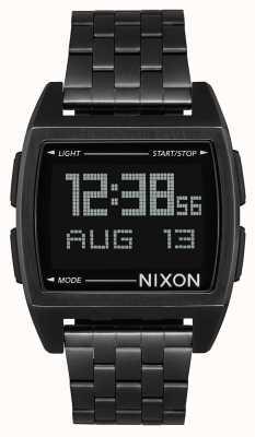 Nixon Base | tout noir | numérique | bracelet en acier ip noir | A1107-001-00