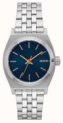 Nixon Caissier moyen | bleu marine / or rose | bracelet en acier inoxydable | cadran bleu marine A1130-2195-00