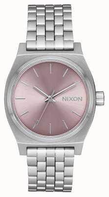 Nixon Caissier moyen | argent / lavande pâle | bracelet en acier inoxydable | A1130-2878-00
