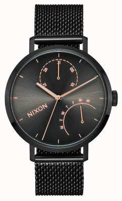 Nixon Embrayage | noir / bronze | treillis en acier ip noir | cadran noir A1166-1420-00
