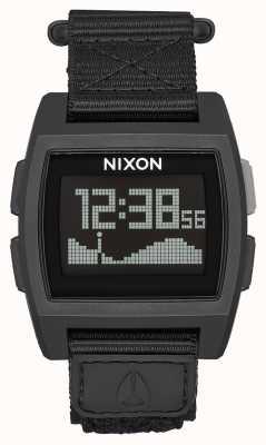Nixon Base de marée en nylon | tout noir | numérique | bracelet en nylon noir A1169-001-00