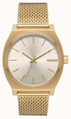 Nixon Time Teller milanese | tout or / crème | maille en acier ip or | cadran crème A1187-2807-00