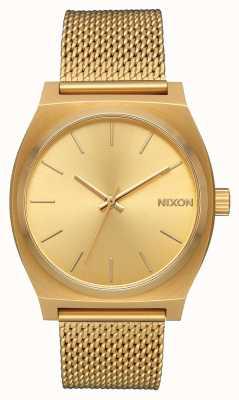 Nixon Time Teller milanese   tout l'or   maille en acier ip or   cadran en or A1187-502-00