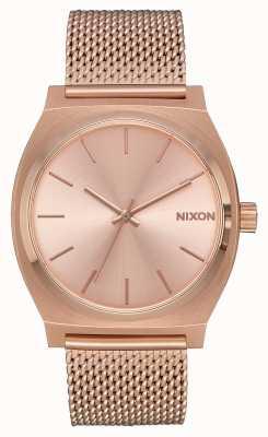 Nixon Time Teller milanese   tout en or rose   maille ip or rose   cadran en or rose A1187-897-00