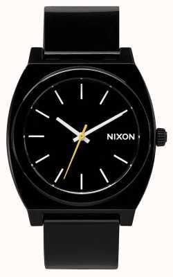 Nixon Time Teller p | noir | bracelet en plastique noir | cadran noir A119-000-00
