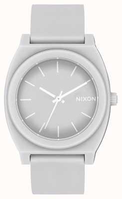 Nixon Time Teller p   gris froid mat   bracelet en silicone gris   cadran gris A119-3012-00