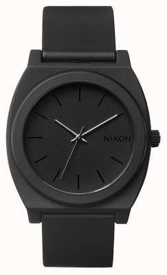 Nixon Time Teller p | noir mat | bracelet en silicone noir | cadran noir A119-524-00